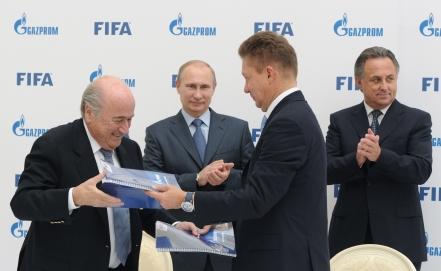 Газпром стал официальным спонсором ФИФА