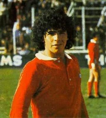 Диего Марадона фото в юности