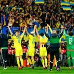 Сборная Украины впервые в истории прошла плей-офф.
