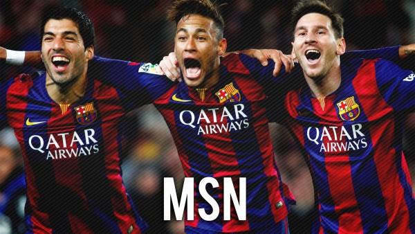 Легендарное атакующее три Барсы_MSN