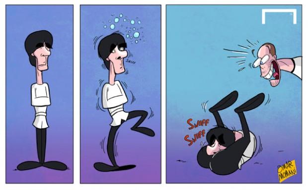 Карикатуры на футбол от Омара Момани