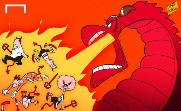 Omar Momani карикатурой посмеялся над сборной Бельгии