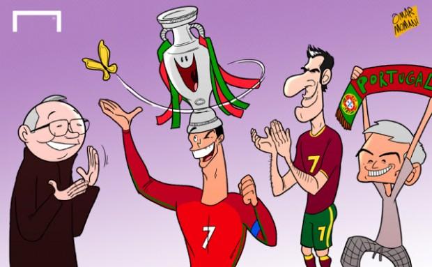 Карикатура Омара Момани после финала Чемпионата Европы по футболу_Евро-2016