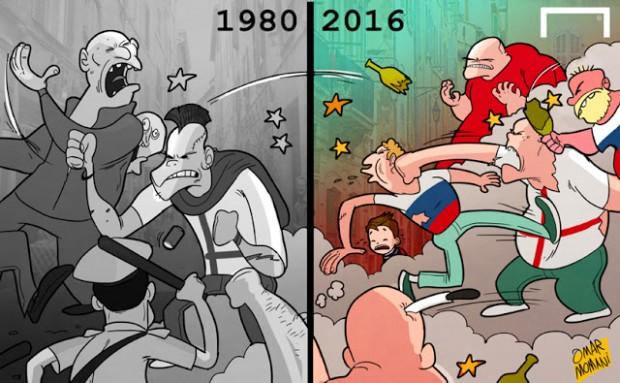 Omar Momani and his Euro-2016 cartoons